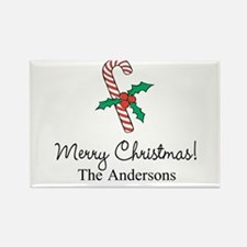Personalized Christmas candy cane Magnets