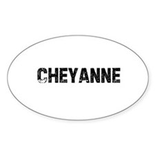 Cheyanne Oval Decal