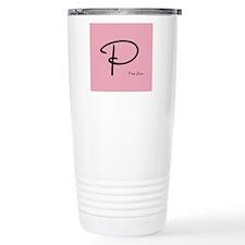 Romantic Pink Love Monogram Thermos Mug