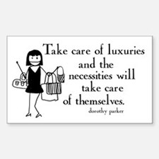 Luxuries Rectangle Decal