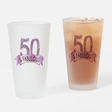 50 & Fabulous Diamonds Drinking Glass