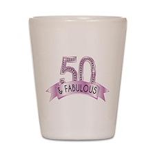 50 & Fabulous Diamonds Shot Glass