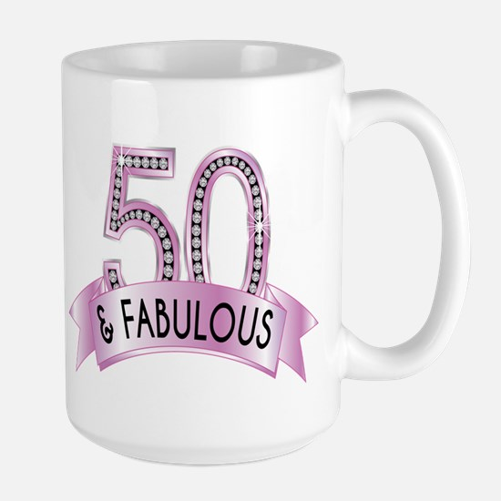 50 & Fabulous Diamonds Mugs