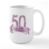 50th birthday Large Mugs (15 oz)