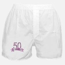 50 & Fabulous Diamonds Boxer Shorts