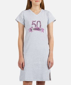 50 & Fabulous Diamonds Women's Nightshirt