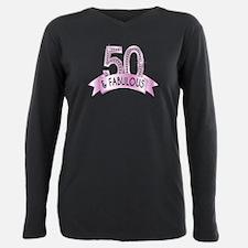 50 & Fabulous Diamonds Plus Size Long Sleeve Tee