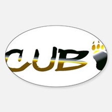 BEAR PRIDE CUB AND PAW Oval Decal