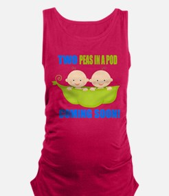 Funny Peas in a pod Maternity Tank Top