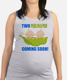 Funny Babies twins Maternity Tank Top