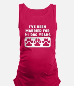 13th Anniversary Dog Years Maternity Tank Top