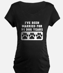 13th Anniversary Dog Years Maternity T-Shirt