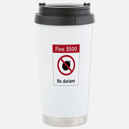 No Durians Sign, Singapore Mugs