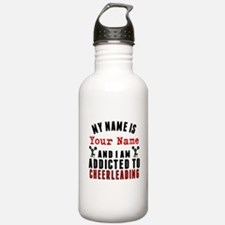 Addicted To Cheerleading Water Bottle