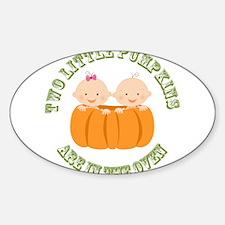 Two Little Pumpkins - Boy, Girl Decal
