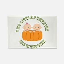 Two Little Pumpkins - Boy, Girl Magnets