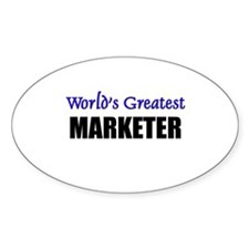 Worlds Greatest MARKETER Oval Decal