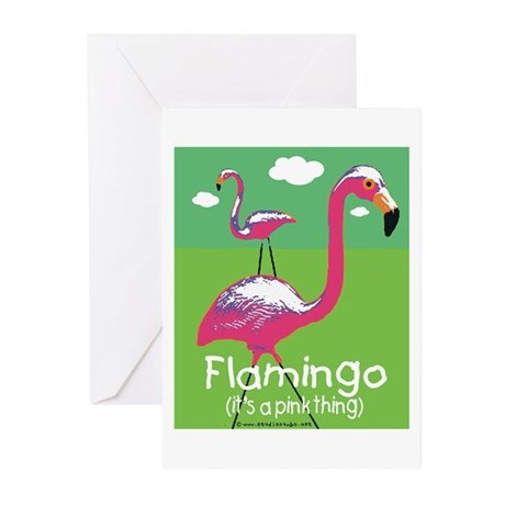 Flamingo a Pink Thing Greeting Cards (Pk of 20)