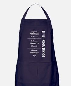 ROMANS 5:3 Apron (dark)
