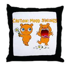 Mood Swings Throw Pillow