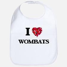 I love Wombats Bib