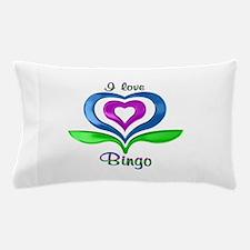 I Love Bingo Hearts Pillow Case