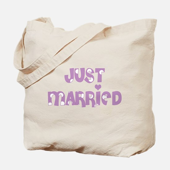 Just Married Polka Dot Tote Bag