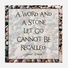 A WORD AND A STONE... Tile Coaster
