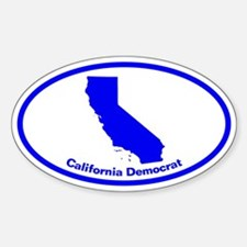 California BLUE STATE Oval Decal