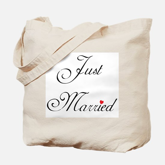 Just Married Formal Tote Bag