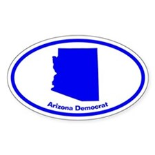 Arizona BLUE STATE Oval Decal