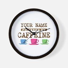 Powered by Caffeine Wall Clock