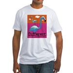 Different Flamingo Fitted T-Shirt