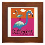 Different Flamingo Framed Tile