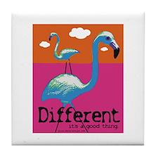 Different Flamingo Tile Coaster