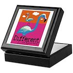 Different Flamingo Keepsake Box