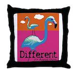 Different Flamingo Throw Pillow