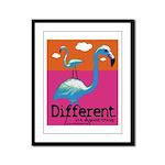Different Flamingo Framed Panel Print
