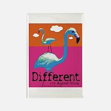 Different Flamingo Rectangle Magnet