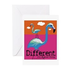 Different Flamingo Greeting Cards (Pk of 20)