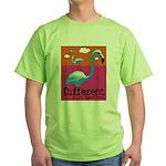 Different Flamingo Green T-Shirt