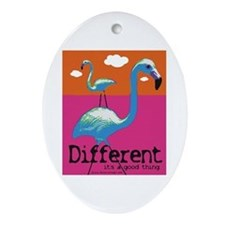 Different Flamingo Oval Ornament