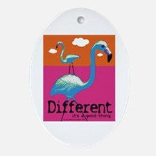 Different Flamingo Oval Ornament