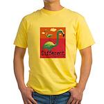 Different Flamingo Yellow T-Shirt