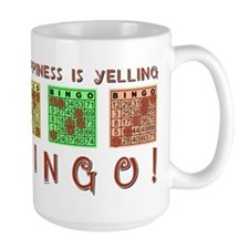 HAPPINESS IS YELLING BINGO! Mugs