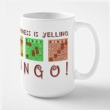 HAPPINESS IS YELLING BINGO! Mugs
