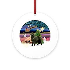 Xmas Magic / Newfie 1 (std) Ornament (Round)