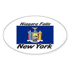 Niagara Falls New York Oval Decal