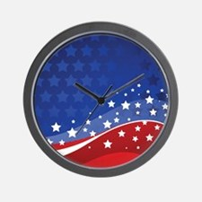 STARS & STRIPES Wall Clock