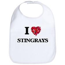 I love Stingrays Bib